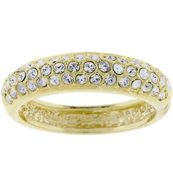 Kate Bissett Goldtone Pave Cubic Zirconia Ring