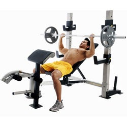 Gold 39 S Gym Gb 2000 Weight Bench Free Shipping Today 11188459