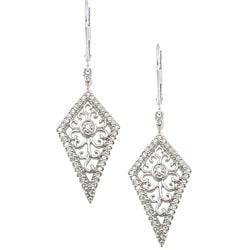 Sterling Silver 1/4ct TDW Diamond Drop Earrings
