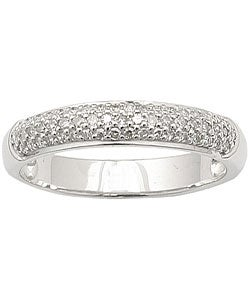 Sterling Silver 1/4ct TDW Diamond Band