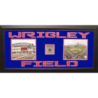 Wrigley Field Framed Photo w/ Piece of Stadium Seat