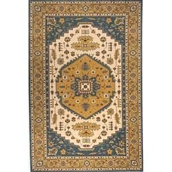 Momeni Persian Garden Teal Blue NZ Wool Rug (5' X 8') - Thumbnail 0