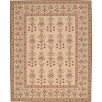 Nourison Hand-hooked Ivory Wool 16th-century Rug (3'9 x 5'9)