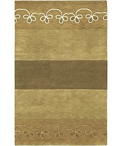 Hand-knotted Karur Collection Geometric Wool Rug (9' x 13')