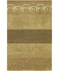 Hand-knotted Karur Collection Geometric Wool Area Rug (9' x 13')