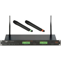 Pyle Dual UHF PLL LCD Wireless Microphone System (Refurbished)