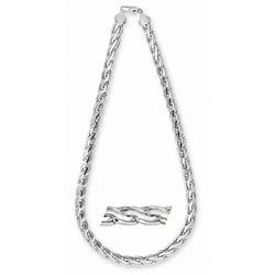 Simon Frank 14k White Gold Overlay 20-inch Pharaoh Chain