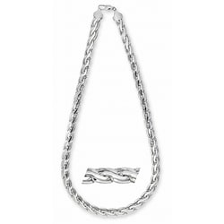Simon Frank 14k White Gold Overlay 30-inch Pharaoh Chain