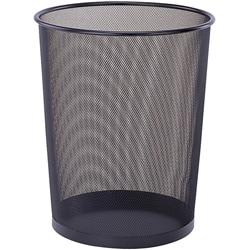 Round Black Wastebasket