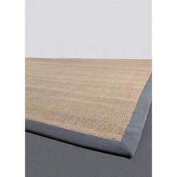 Artist's Loom Hand-woven Contemporary Border Natural Eco-friendly Sisal Rug (3'6x5'6)