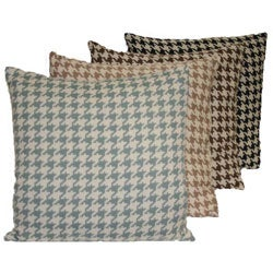 Shop Jaquard Houndstooth Pillow Free Shipping On Orders