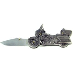Stainless Steel Motorcycle Chopper Pocket Knife - Thumbnail 0