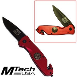 Firefighter Pocket Knives with J Hook Set (Set of 2)
