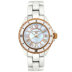 Swiss Legend Unisex Ceramic Sports Watch with Mother of Pearl Dial