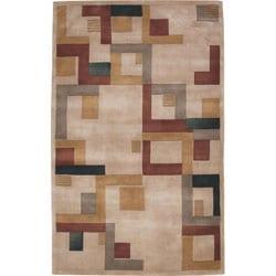 Nourison Hand-tufted Dimensions Beige Rug (5' x 8') - Thumbnail 0