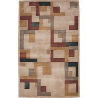 Nourison Hand-tufted Dimensions Beige Rug (5' x 8')