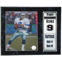 Tony Romo 12 x 15 Stat Plaque