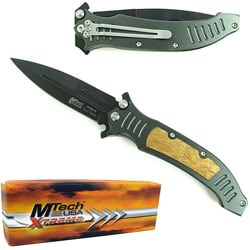 The Grinder Stainless Steel Pocket Knife with Clip - Thumbnail 0