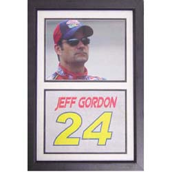 Jeff Gordon 12x18 Custom Framed Double Print