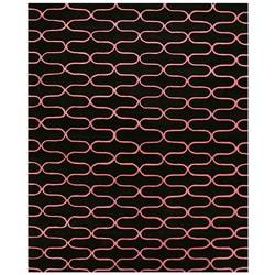Hand-tufted Wool Black Kurt Rug - 8'9 x 11'9 - Thumbnail 0