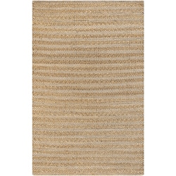 Handmade Mandara Collection Tan Rug - Thumbnail 0