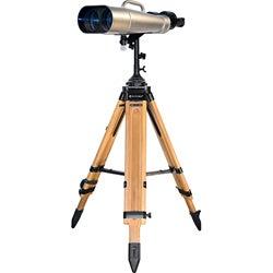 25x/40x100mm Jumbo Binoculars w/ Wooden Tripod - Thumbnail 0
