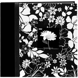 Pioneer Fabric Frame Black and White 12x12 Album with 40 Bonus Pages