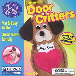 Thumbnail 1, Quincrafts Dog Door Critters Learn To Sew Kit.