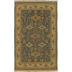 Hand-knotted Sangli Collection Wool Area Rug (9' x 12') - Thumbnail 0