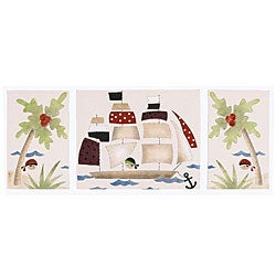 Cotton Tale Pirates Cove 3-piece Wall Art Set