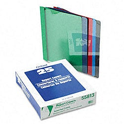 Clear Front Report Cover with Leatherette Cover (25 per Box)