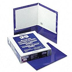 Laminated 100-sheet Two-pocket Portfolios (Pack of 25)
