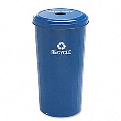 Tall Round 20-gallon Can Recycling Receptacle