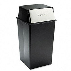Push Top Square Receptacle - 36 Gallon