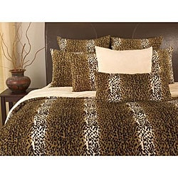 microplush cheetah print queen size 3 piece comforter set free