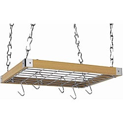 Square Natural Wood Ceiling Rack