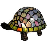 Warehouse of Tiffany Tiffany-style Turtle Accent Lamp