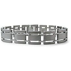 Men's Titanium Cutout Link Bracelet