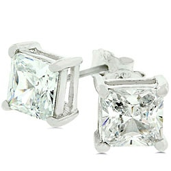 Kate Bissett 14k Gold over Sterling Silver CZ Stud Earrings
