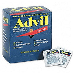Advil Tablets Pain Reliever (50 Packs per Box)