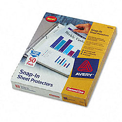 Avery Special-use Snap-in Sheet Protectors (Case of 50)