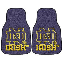Fanmats NCAA Notre Dame Car Mat Set - Thumbnail 0