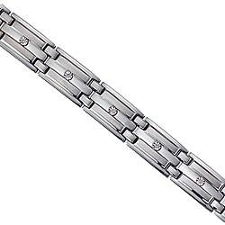 Unending Love Stainless Steel Men's Diamond Bracelet