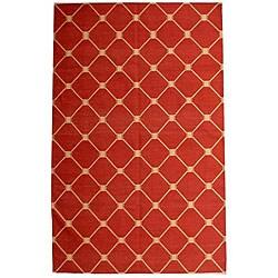 Hand-woven Aria Flatweave Cotton Dhurry Rug (4' x 6')
