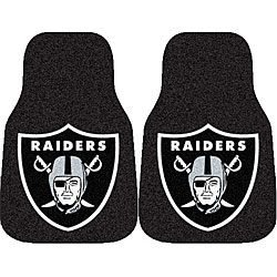 Fanmats NFL Oakland Raiders 2-piece Car Mat Set - Thumbnail 0