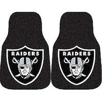 Fanmats NFL Oakland Raiders 2-piece Car Mat Set