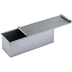 Thumbnail 1, Paderno Aluminized Steel 7.875-inch Bread Pan with Lid.