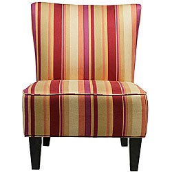 Hali Armless Wine Red Stripe Chair. Opens flyout.