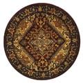 Safavieh Handmade Classic Heriz Red Wool Rug (3'6 Round)