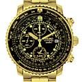 Seiko Men's Aviation  Goldtone Chronograph Watch